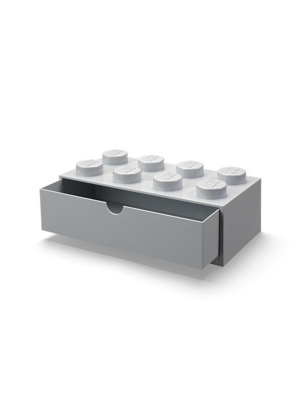 LEGO skrivebordsopbevaring 8, grå