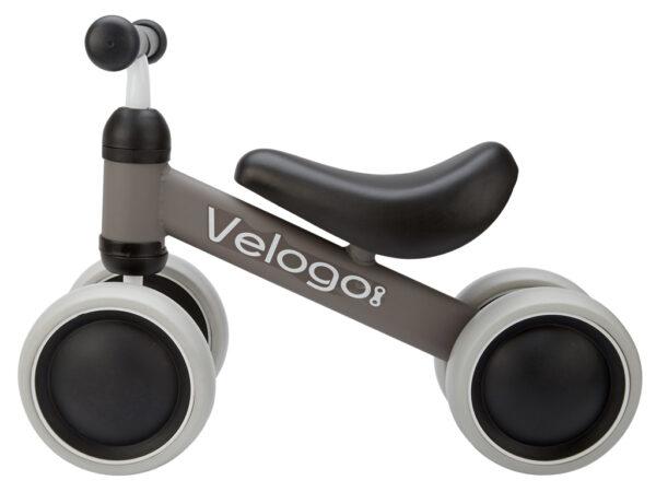 Velogo - Løbecykel - 4 hjul - Matgrå