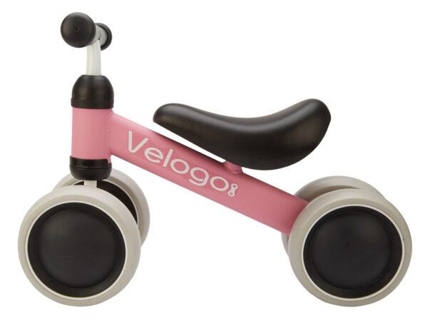 Velogo - Løbecykel - 4 hjul - Pink